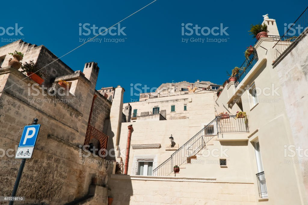 Matera city view. stock photo