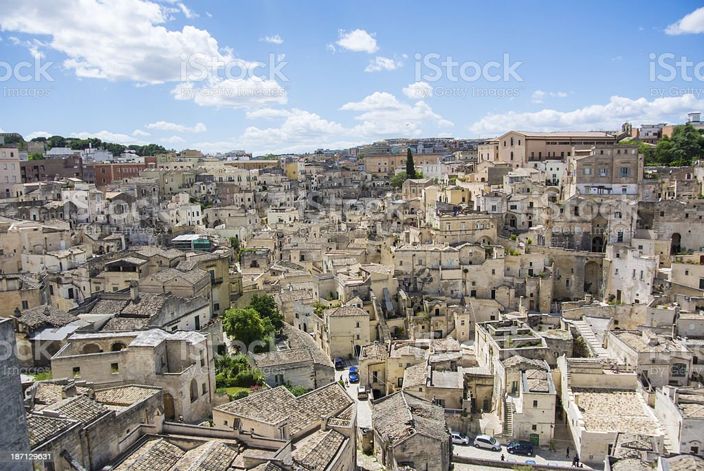 Matera cityscape stock photo