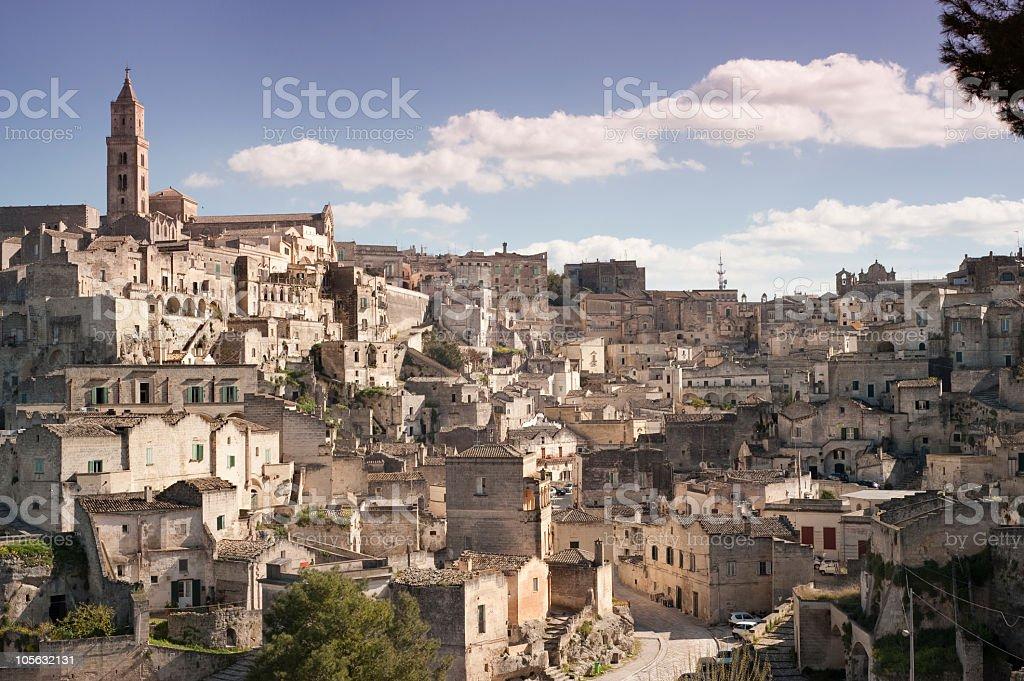 Matera, i sassi - Basilicata (Southern Italy) royalty-free stock photo