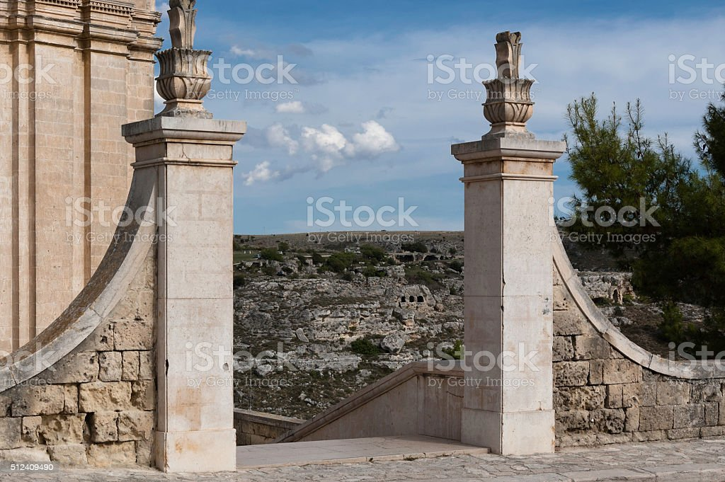Matera - Italy - Panoramic View stock photo