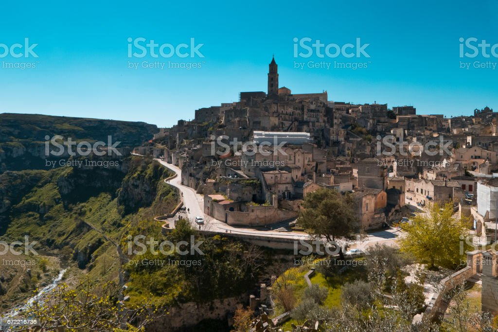 Matera landscape. stock photo