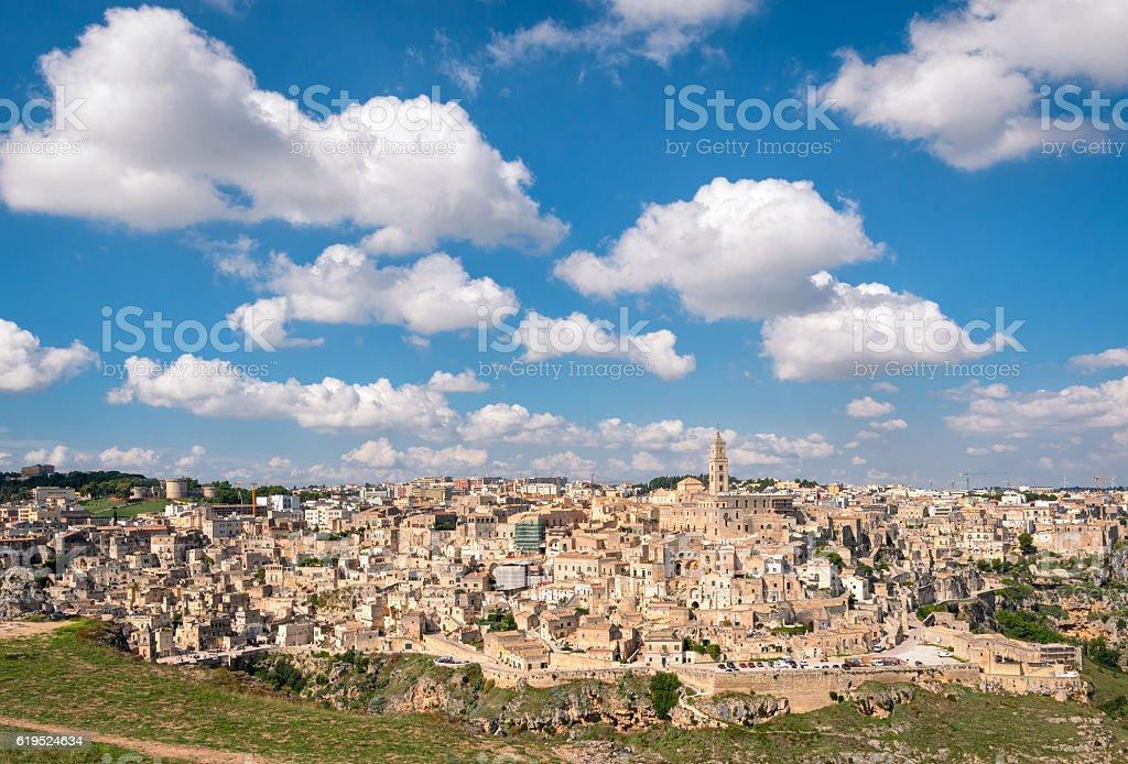 Matera (Basilicata Italy) scenic panorama stock photo