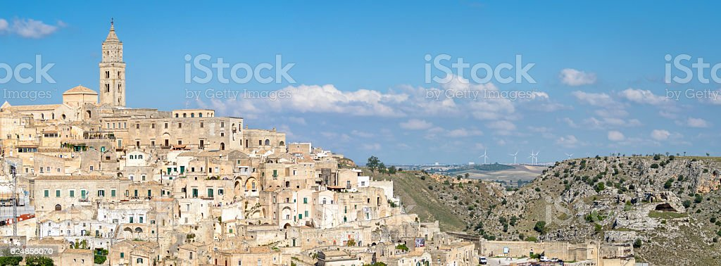 Matera (Basilicata Italy) scenic panorama stock photo