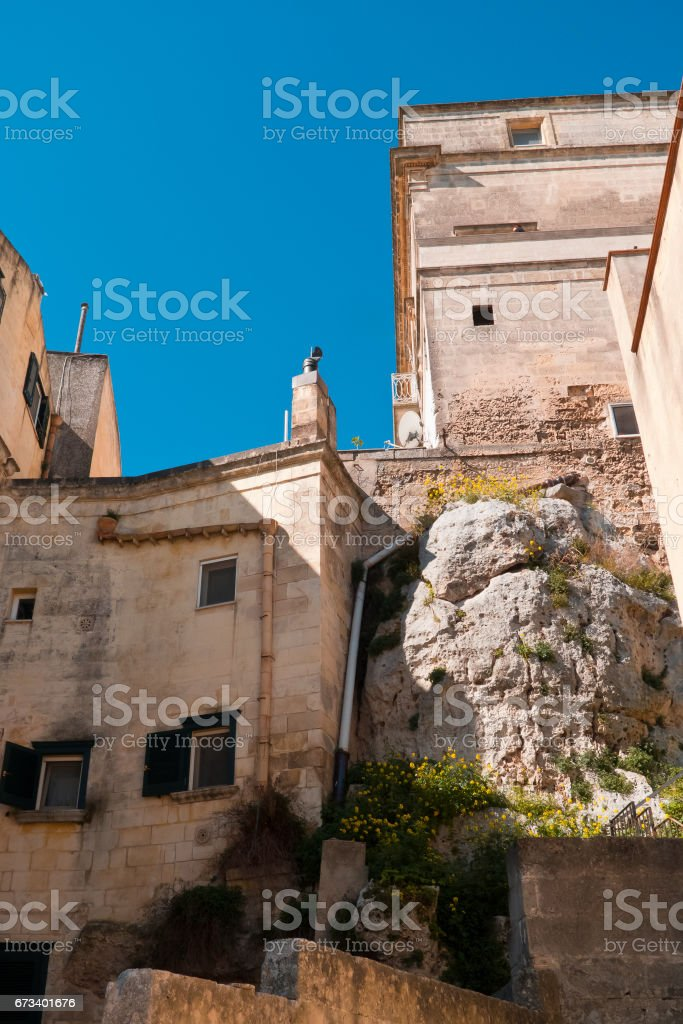 Matera view. stock photo