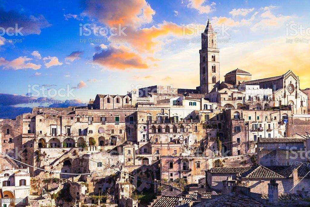 Matera,Basilicata,Italy. stock photo