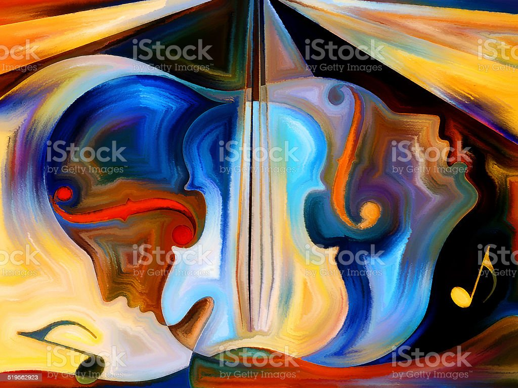 Material of Music stock photo