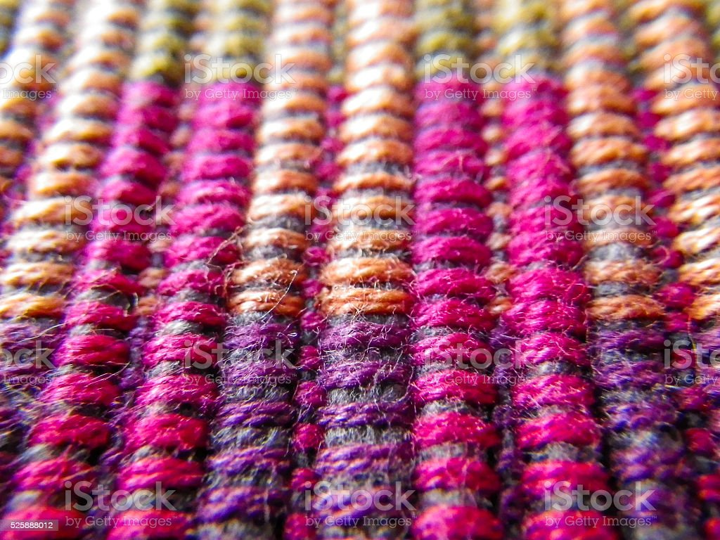 Material Threads Pattern Symetrical Colourful Weave stock photo