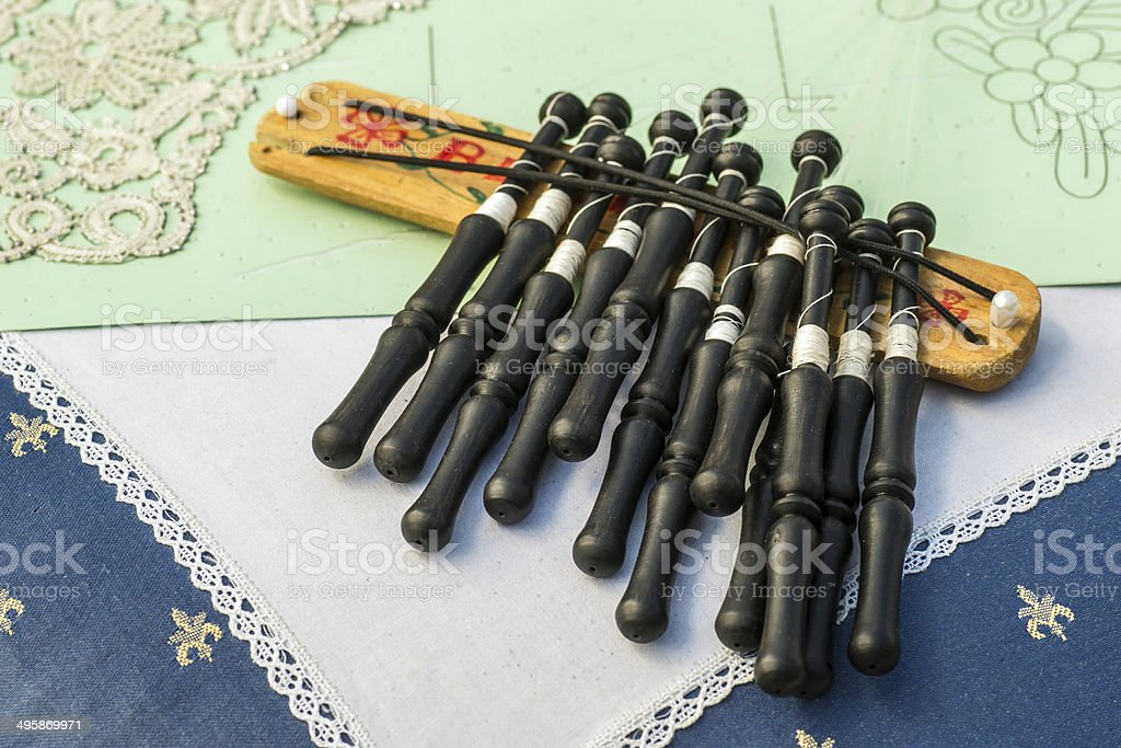 Material to Make Bobbin Lace. royalty-free stock photo