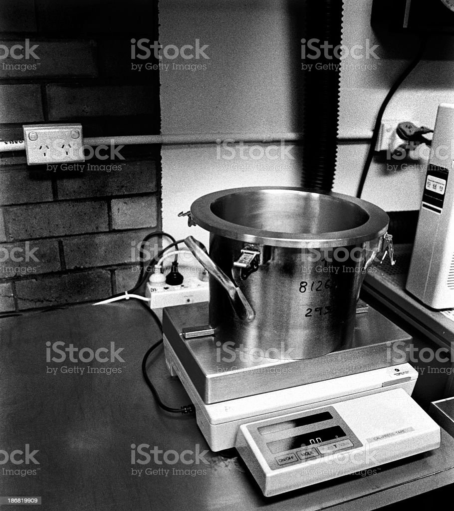 Material weighing royalty-free stock photo