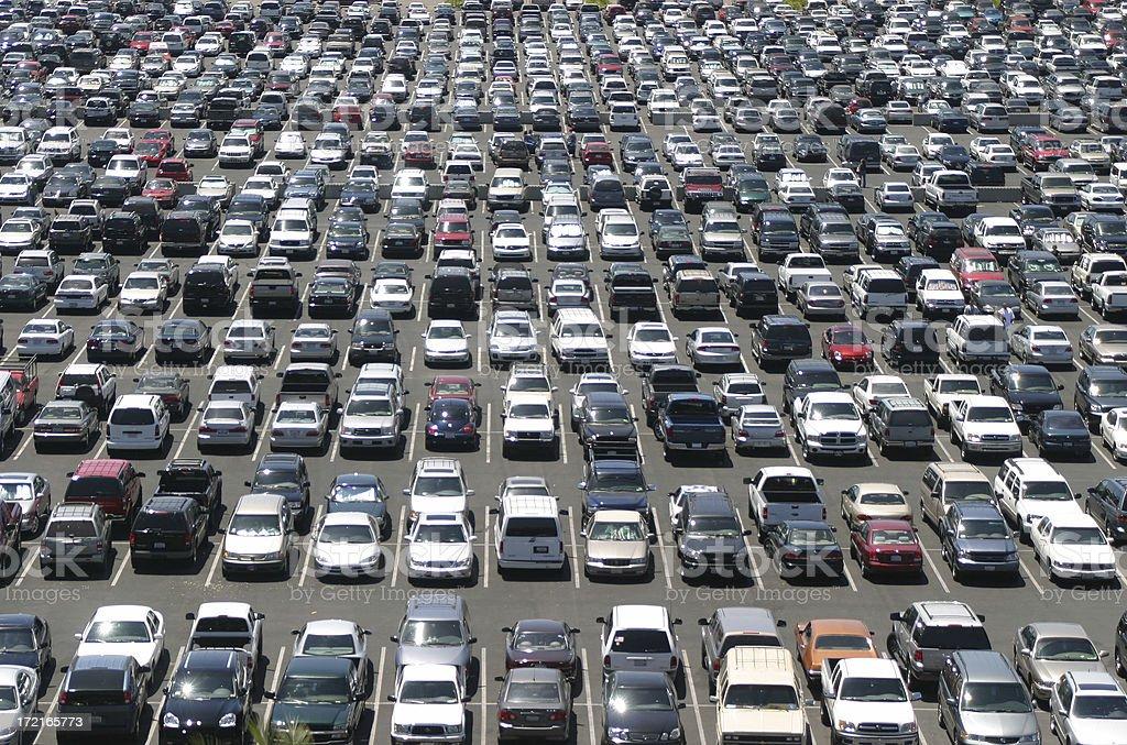 Material World: Massive Parking Lot stock photo