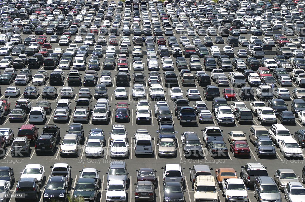 Material World: Massive Parking Lot stock photo
