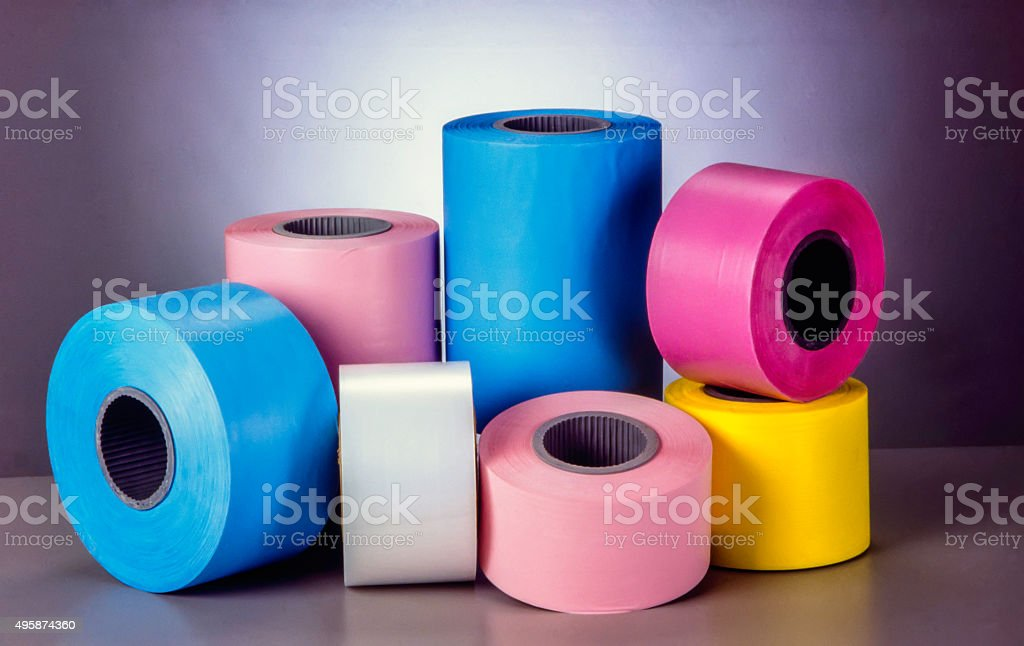 Materials for diapers and sanitary napkins stock photo