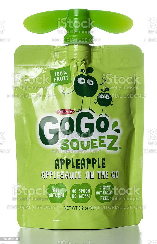 Materne GoGo squeeZ applesauce pouch royalty-free stock photo