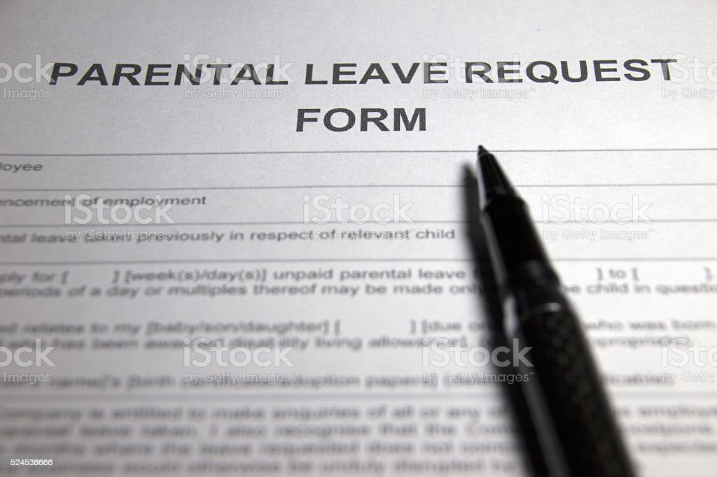 Maternity Leave Form stock photo