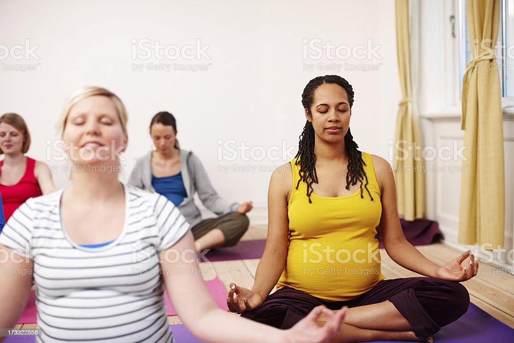 Maternity meditation royalty-free stock photo