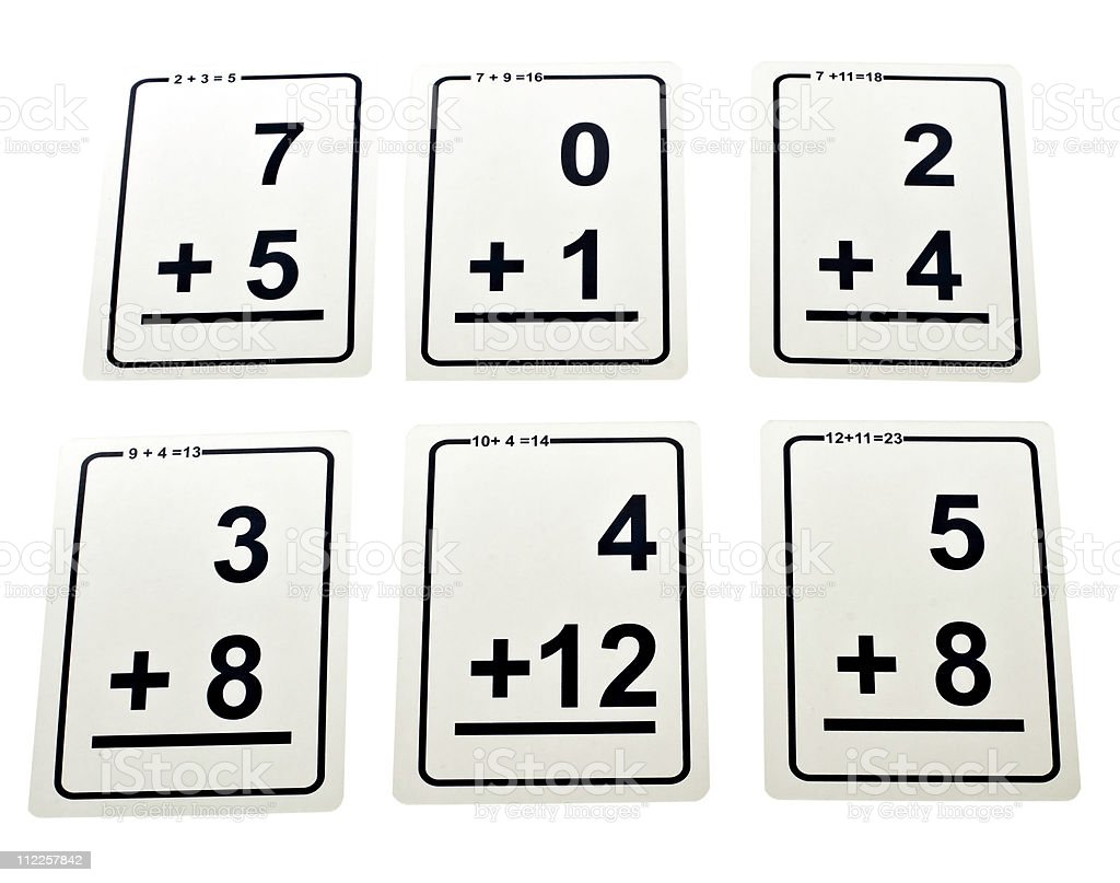 worksheet Math Flash Cards math addition flash cards stock photo 112257842 istock royalty free photo