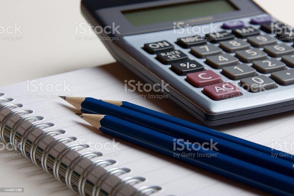 Math Assignment royalty-free stock photo