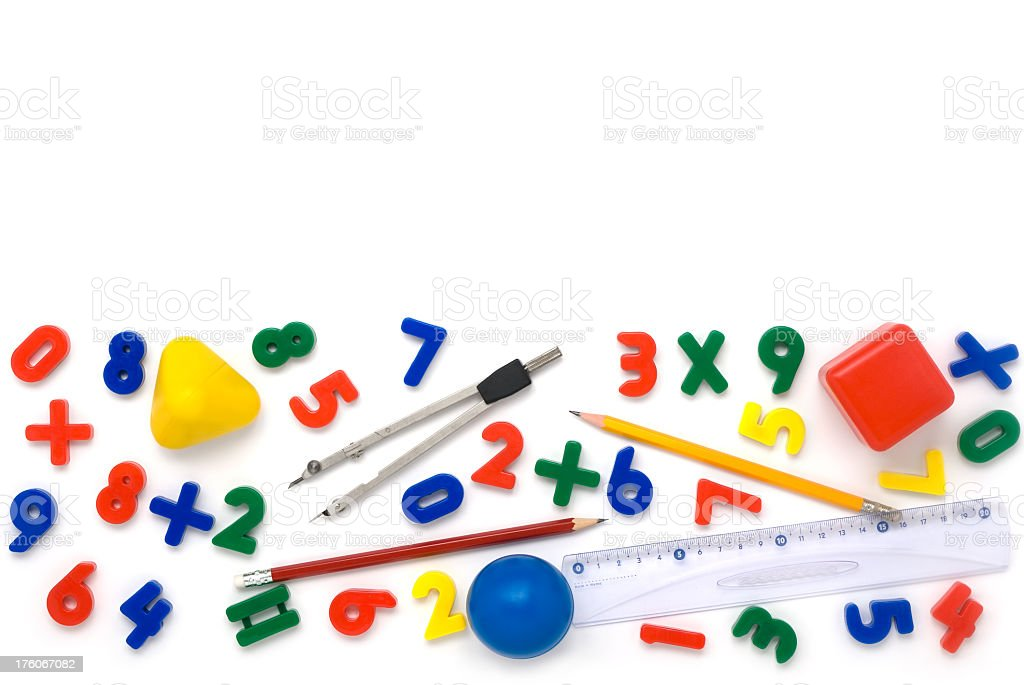 Math background stock photo