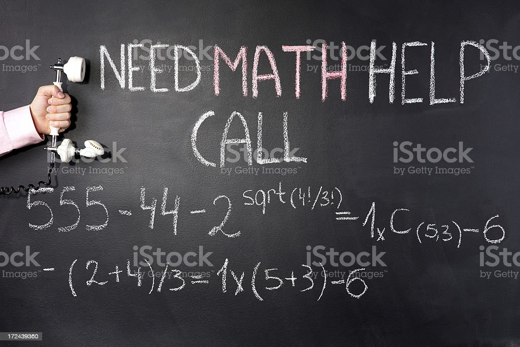 Math call phone number royalty-free stock photo