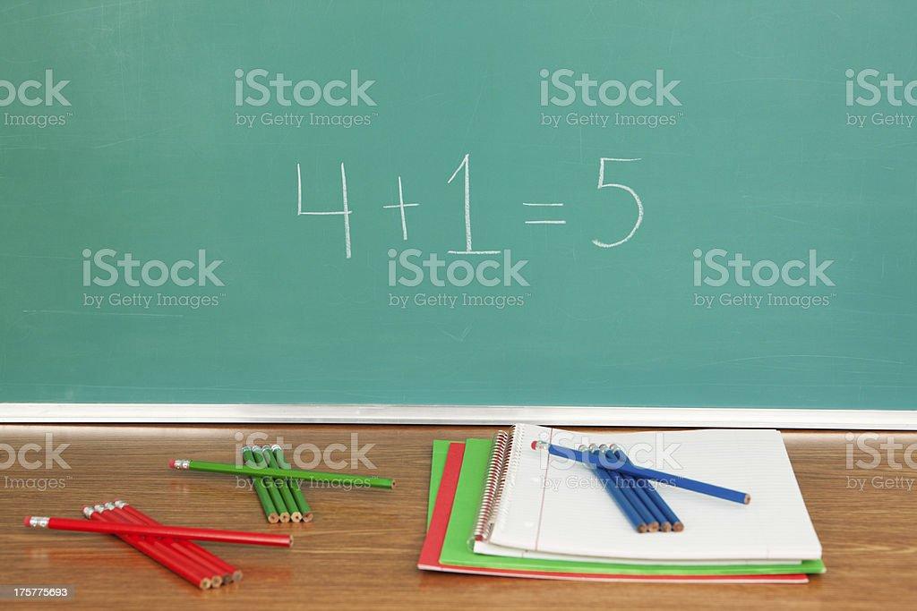 Math Class Chalkboard royalty-free stock photo