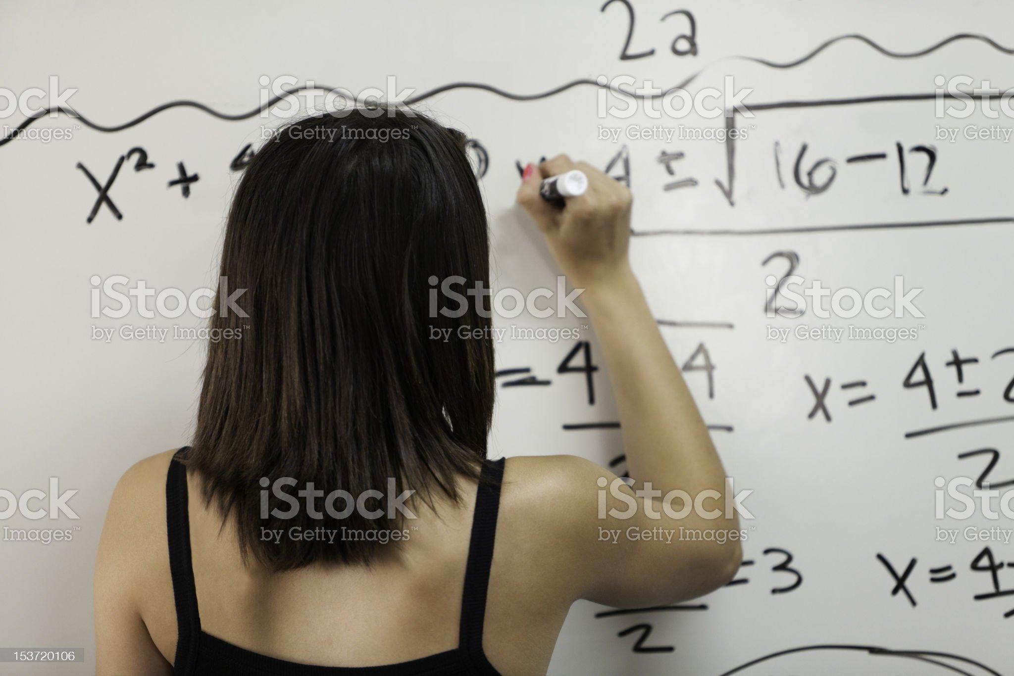 Math Class Girl royalty-free stock photo