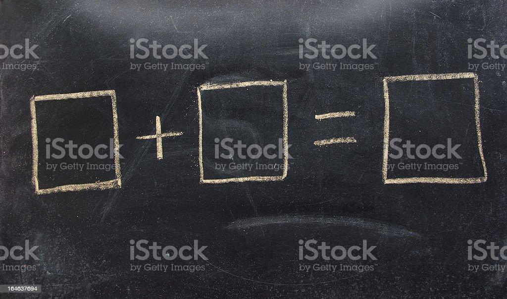 math equation on blackboard concept stock photo