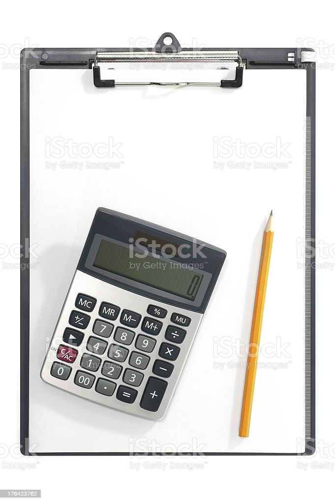Math Homework royalty-free stock photo