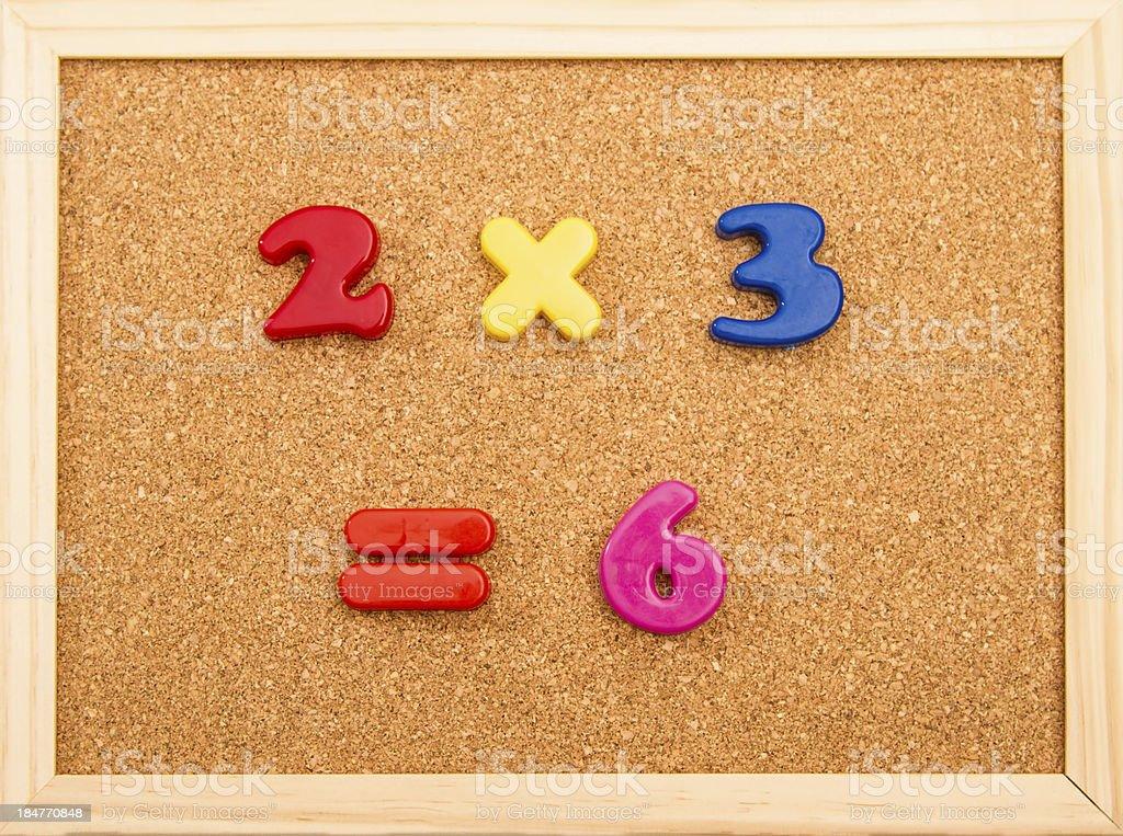 Math Multiplication royalty-free stock photo