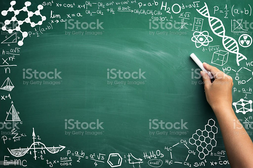 math on blackboard stock photo