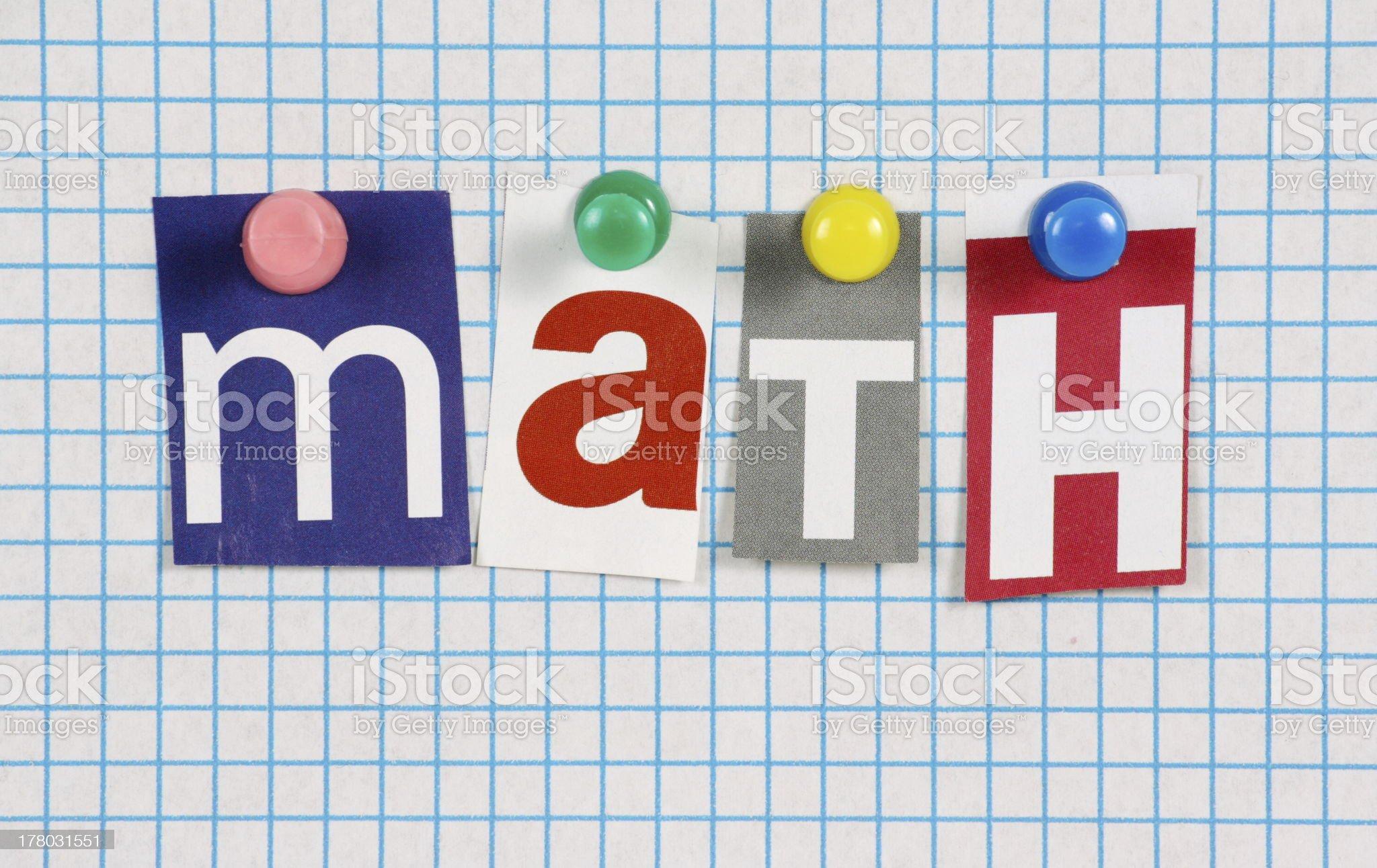 Math or Maths royalty-free stock photo