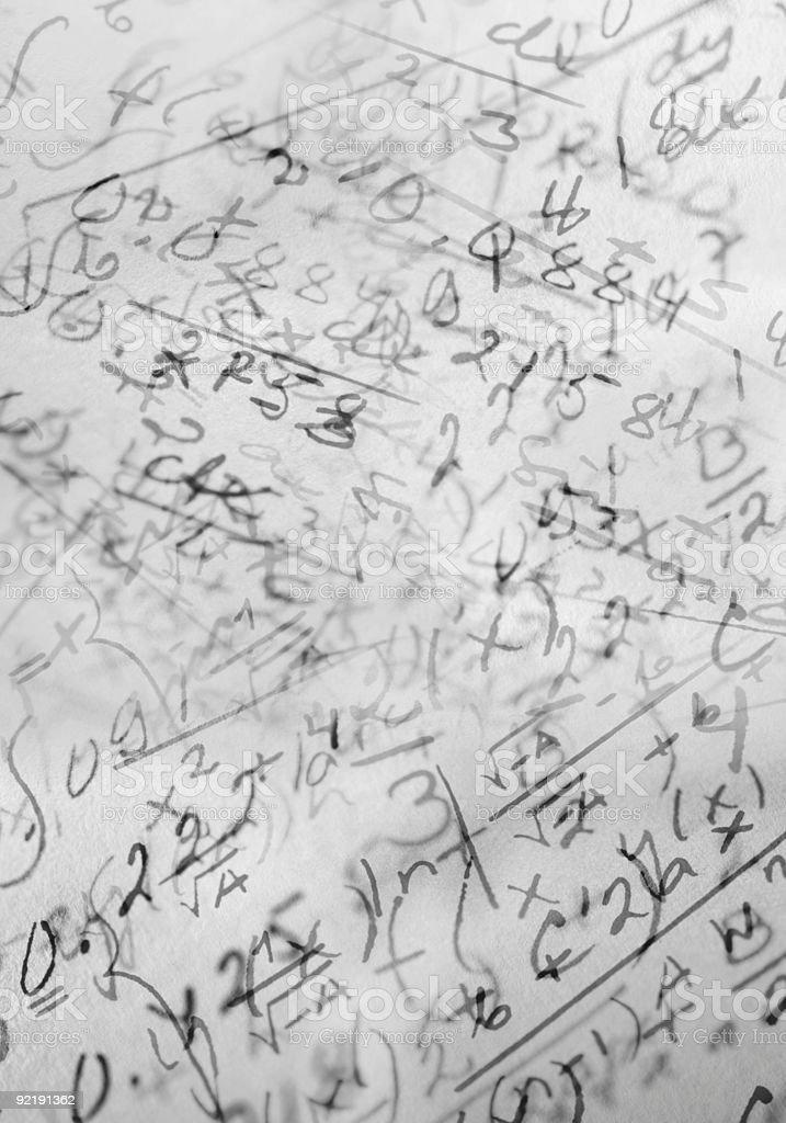 Math royalty-free stock photo