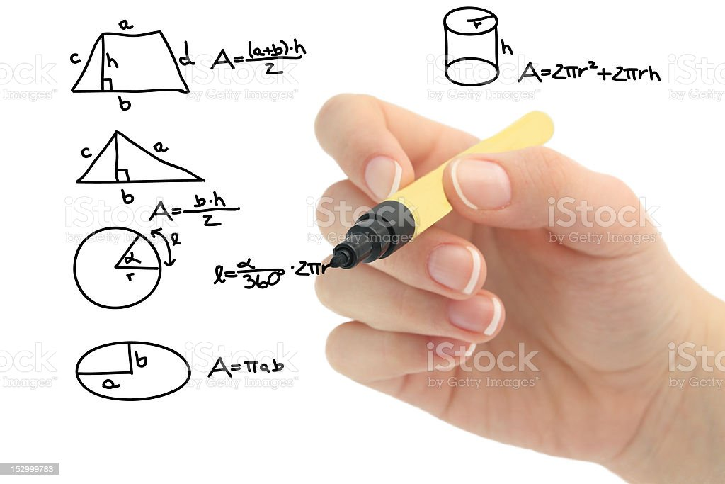 Math problem on whiteboard stock photo