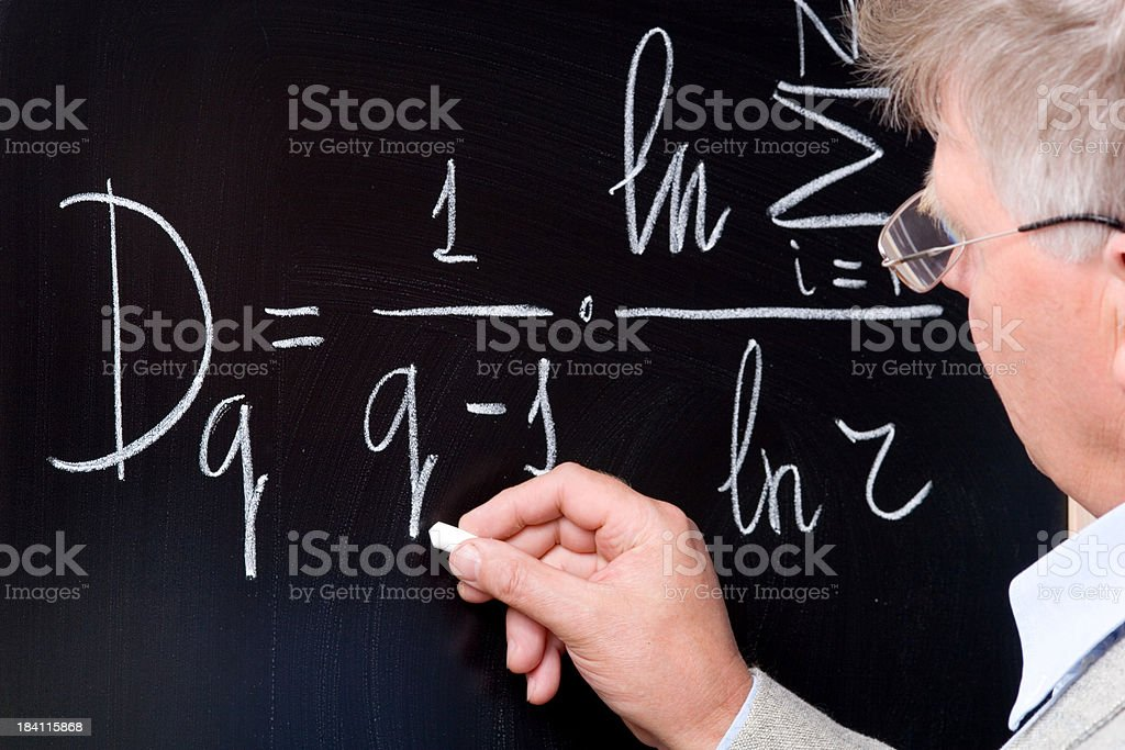 Math professor royalty-free stock photo