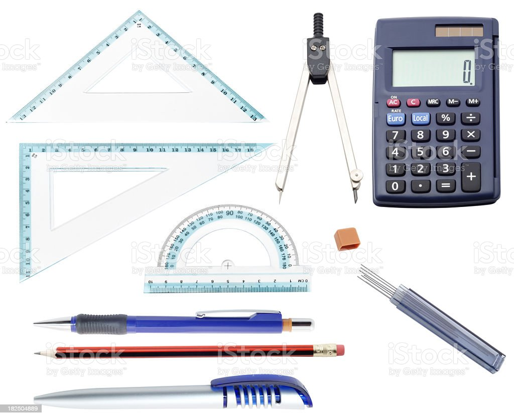 math set royalty-free stock photo