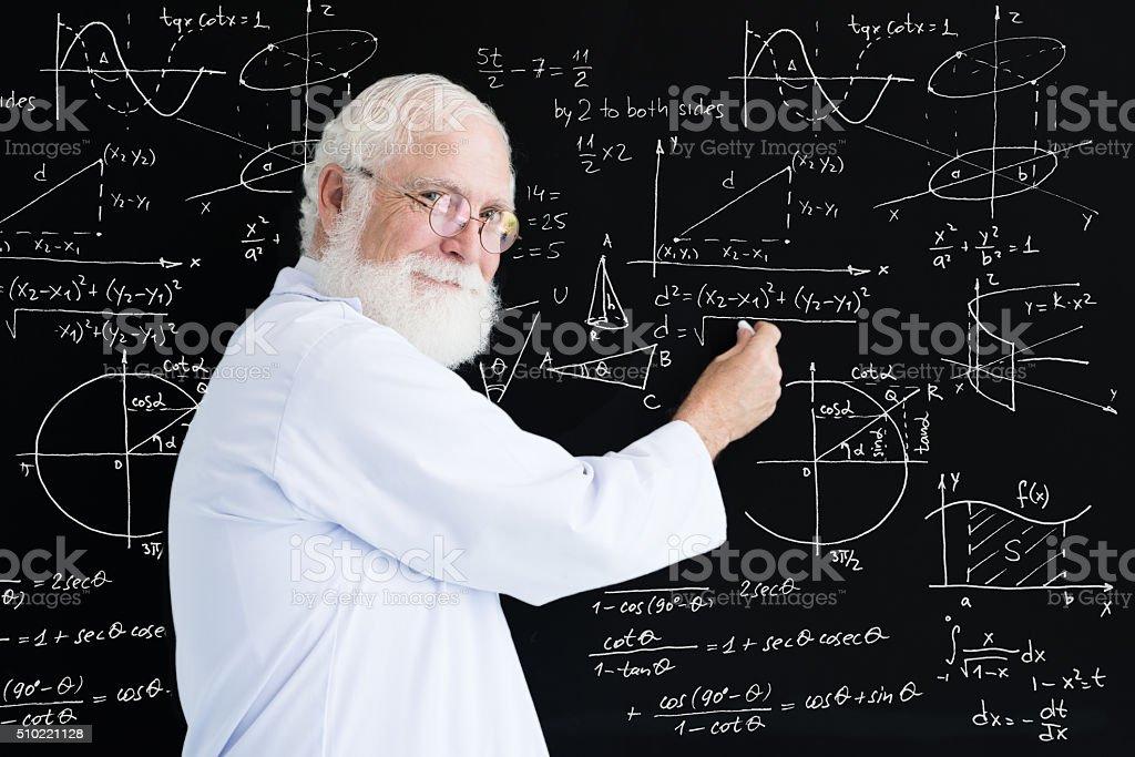 Math teacher stock photo