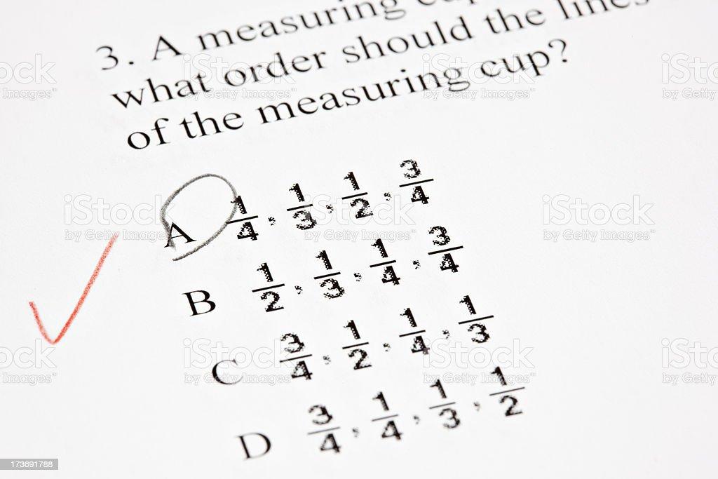 Math Test royalty-free stock photo