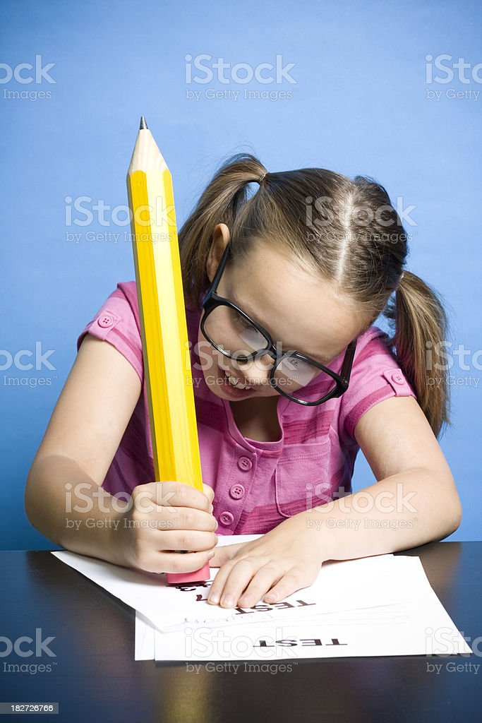 Math Test stock photo