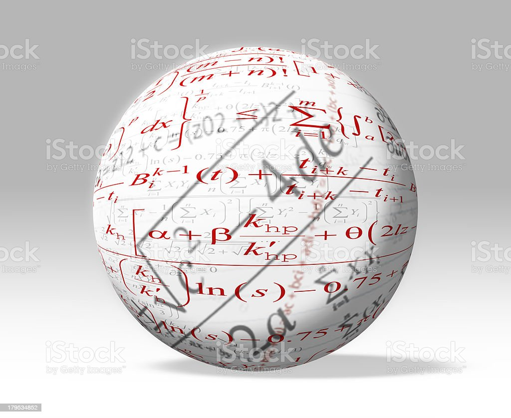 Mathematic formulas royalty-free stock photo