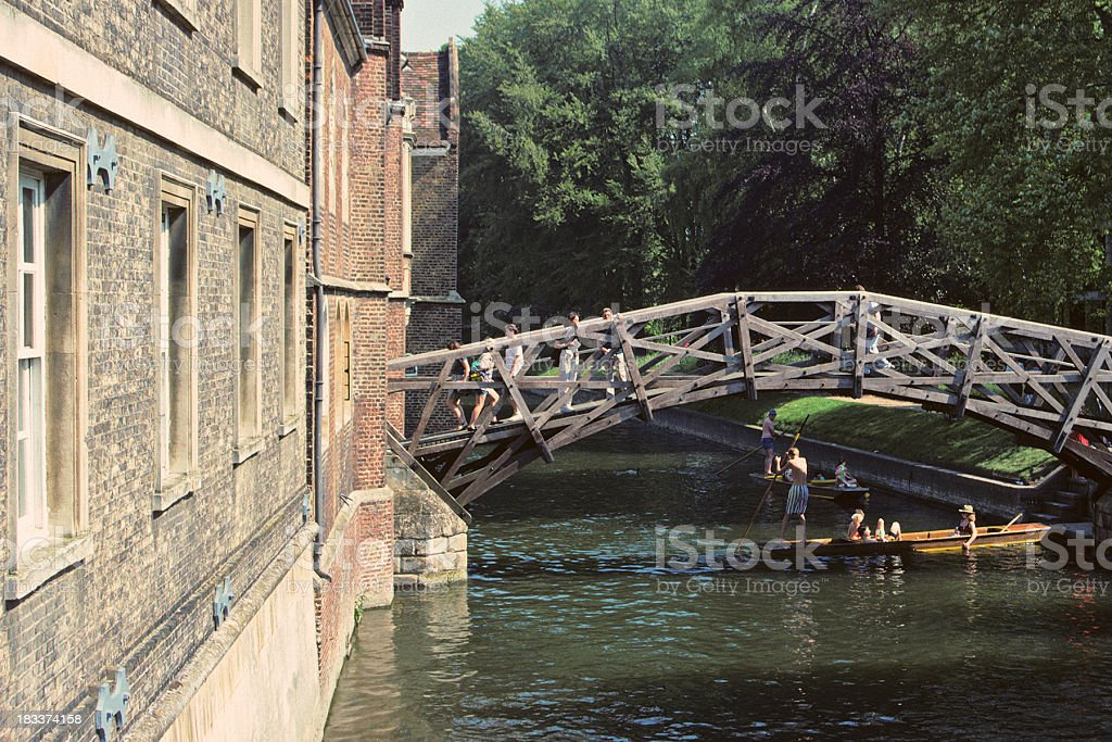 Mathematical Bridge Cambridge royalty-free stock photo