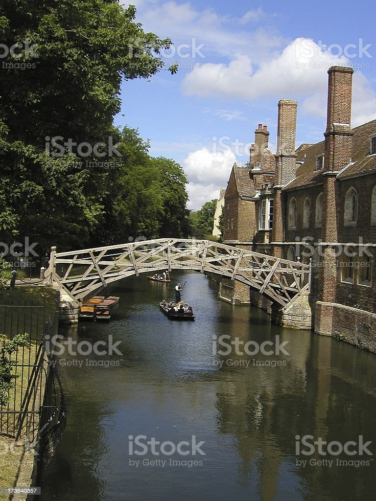 Mathematical Bridge stock photo