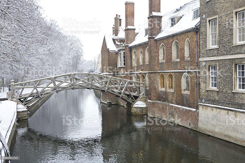 Mathematical Bridge, Queens College Cambridge stock photo