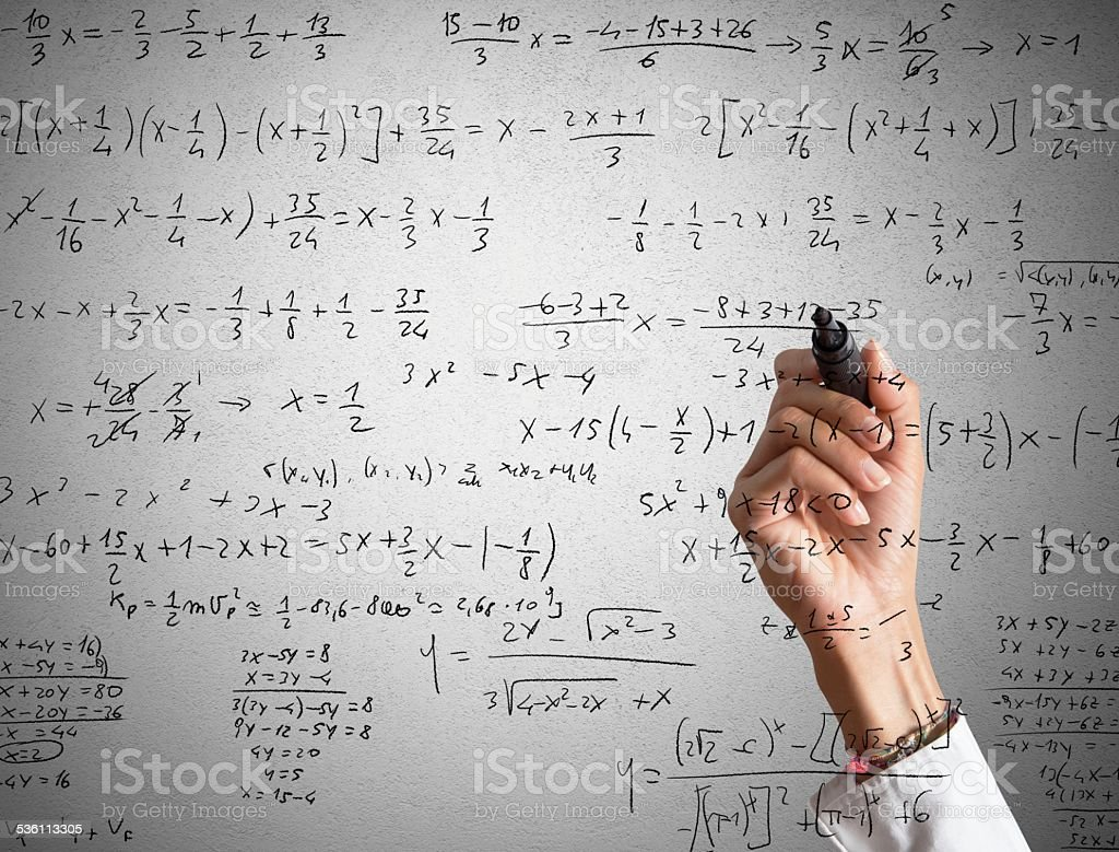 Mathematical calculation stock photo