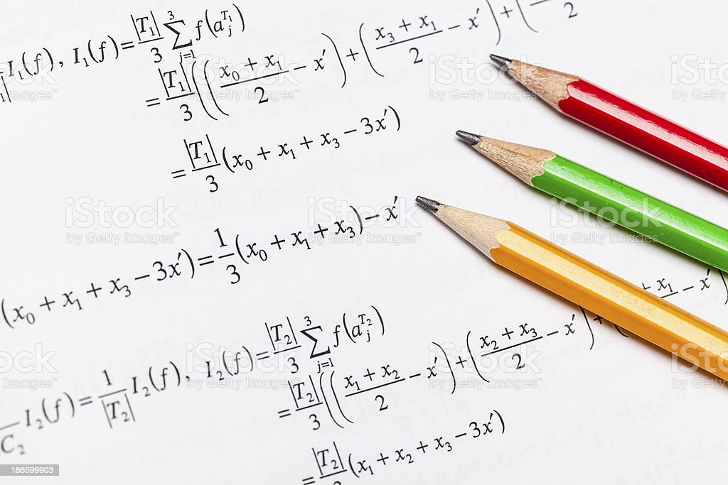 Mathematical equations royalty-free stock photo