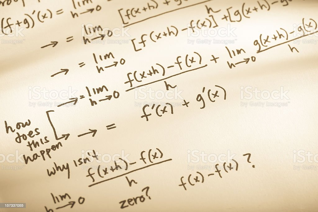 Mathematical Proof royalty-free stock photo