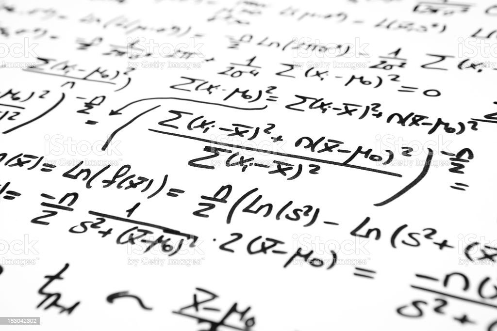 mathematical statistical hypothesis test stock photo