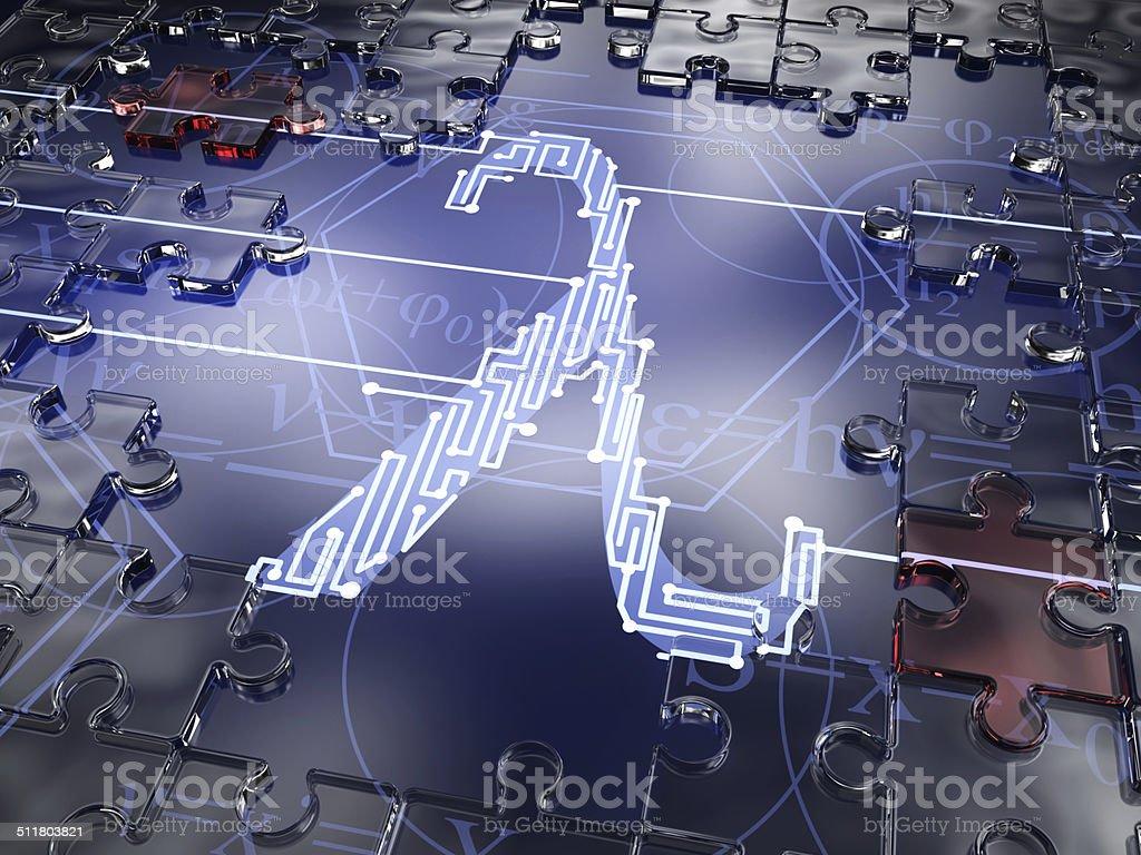 Mathematical Symbol Lambda stock photo