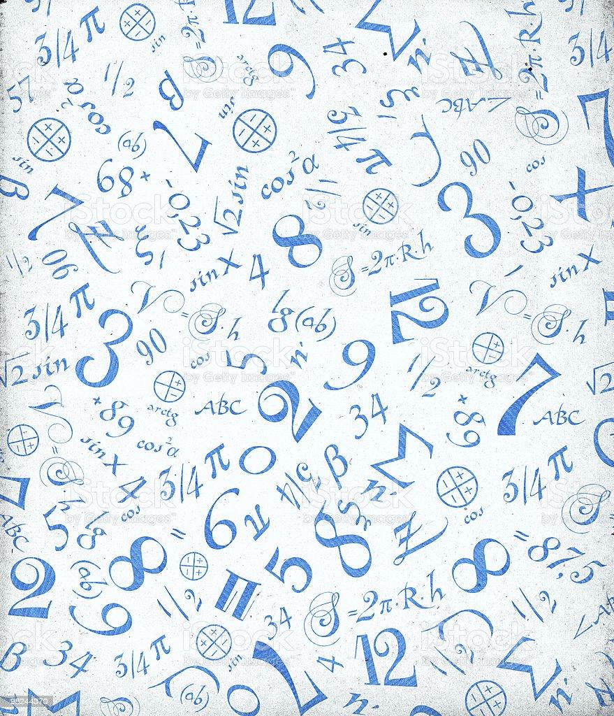 Mathematical symbols background. royalty-free stock photo