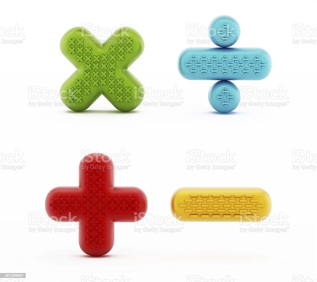 Mathematical symbols royalty-free stock photo