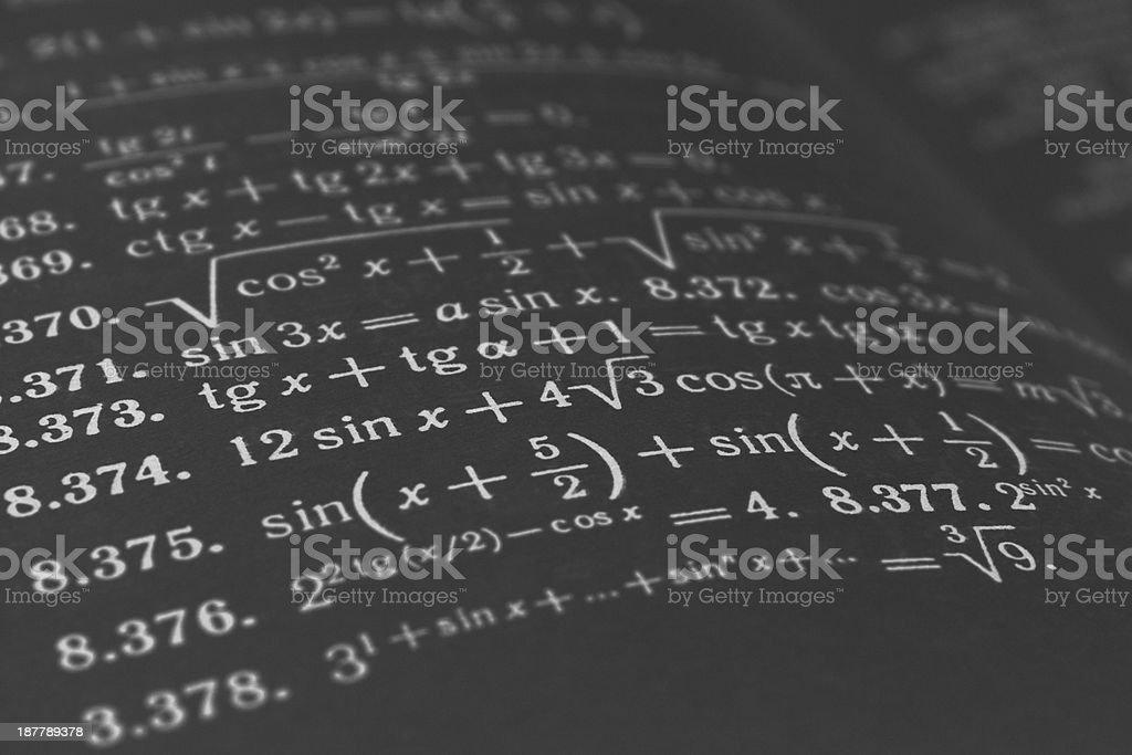 mathematical tasks stock photo