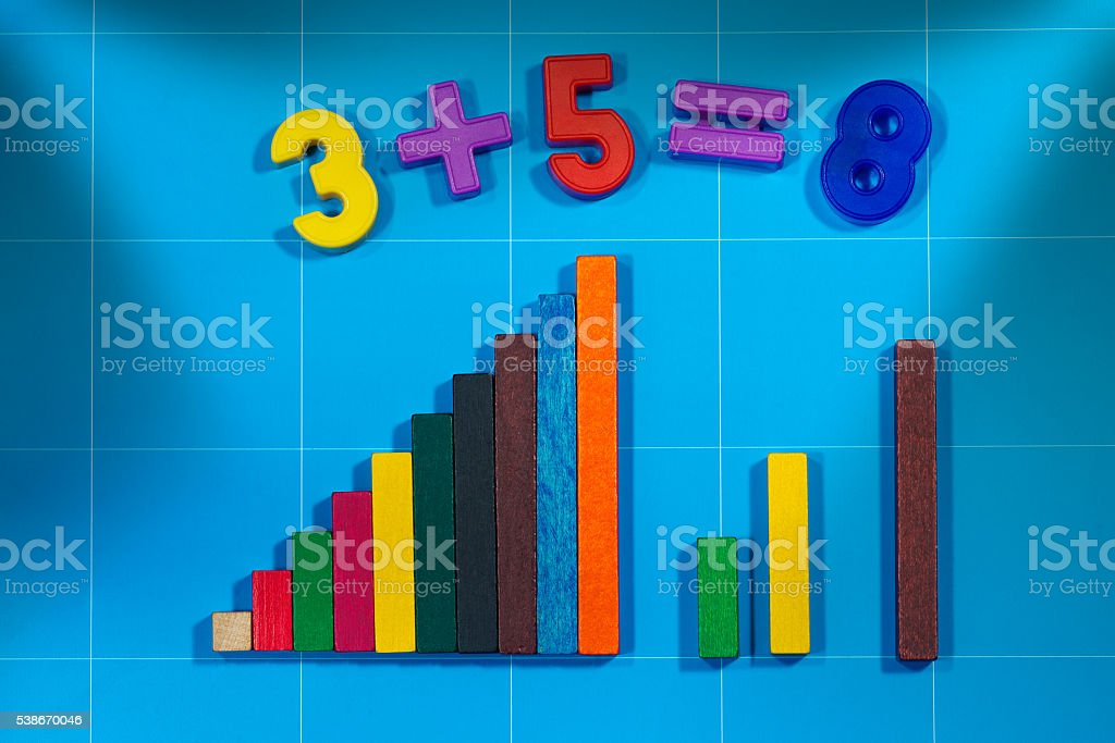 Mathematical Toys for Primary School stock photo
